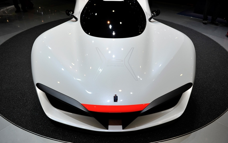 GENEVA, SWITZERLAND - MARCH 01: The Pininfarina H2 Speed Concept is displayed during the Geneva Motor Show 2016 on March 1, 2016 in Geneva, Switzerland. (Photo by Harold Cunningham/Getty Images)