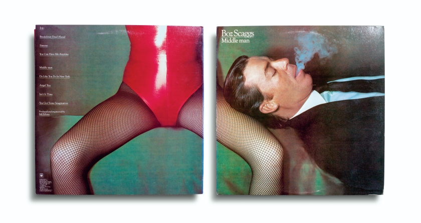 Cover for 'Middle Man' by Boz Scaggs; released by Columbia Records in, 1980; photographed by Guy Bourdin (Aperture, 2016)