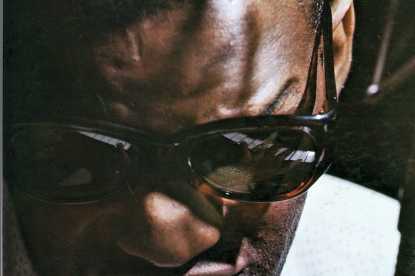 Ray Charles on the cover of his album 'What'd I Say;' released by Atlantic Records in 1959; photographed by Lee Friedlander (Aperture, 2016)