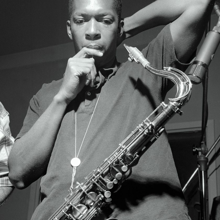 """Photographed by Francis Wolff, John Coltrane at his """"Blue Train"""" session on September 15, 1957 (Aperture, 2016)"""