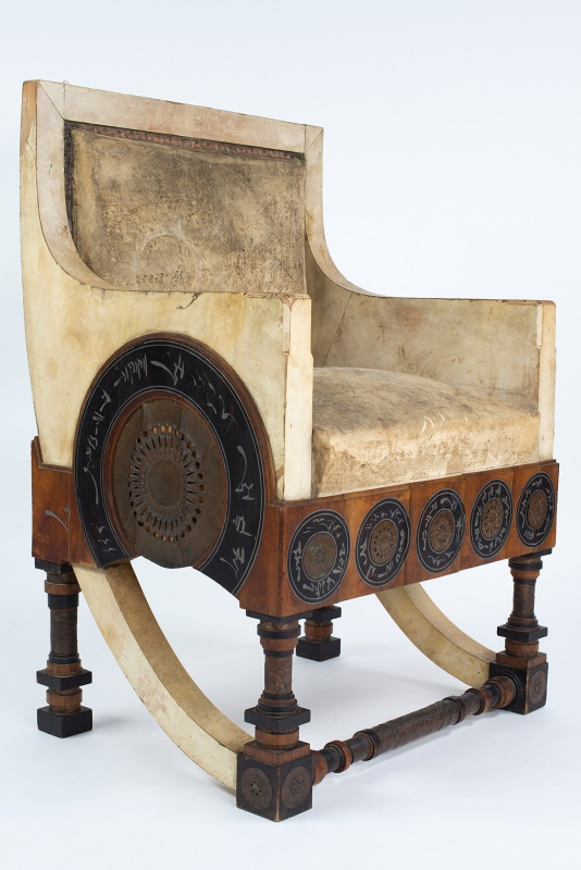 1900 Throne by Carlo Bugatti (Courtesy of The Petersen Automotive Museum)