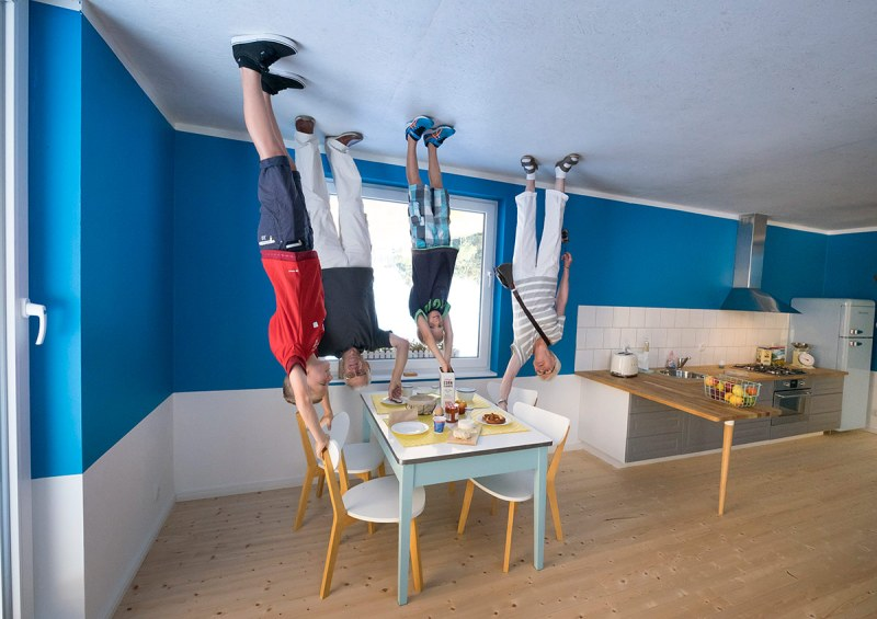 WERTHEIM, GERMANY - SEPTEMBER 7: (EDITORS NOTE: This image has been rotated 180 degrees) The house of the Toppels family is an attraction where everything is upside down, also on the inside, on September 7, 2016 in Wertheim, Baden-Wuerttemberg, Germany. The experience challenges visitors to see and feel the world with different eyes. (Michel Porro/Getty Images)