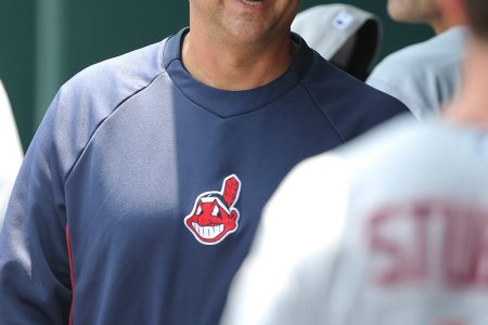 KANSAS CITY, MO - JULY 4:  Terry Francona #17 of the Cleveland Indians walks the dugout during a game against the Kansas City Royals at Kauffman Stadium on July 4, 2013 in Kansas City, Missouri. (Photo by Ed Zurga/Getty Images)