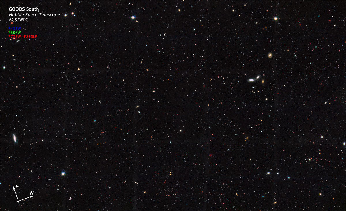 An image created using data from the Hubble Space Telescope (University of Massachusetts, Amherst)