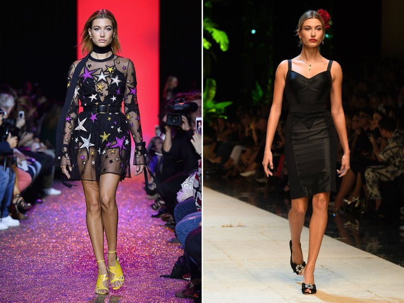 PARIS, FRANCE - OCTOBER 01: Hailey Baldwin walks the runway during the Elie Saab show as part of the Paris Fashion Week Womenswear Spring/Summer 2017 on October 1, 2016 in Paris, France. (Photo by Pascal Le Segretain/Getty Images)