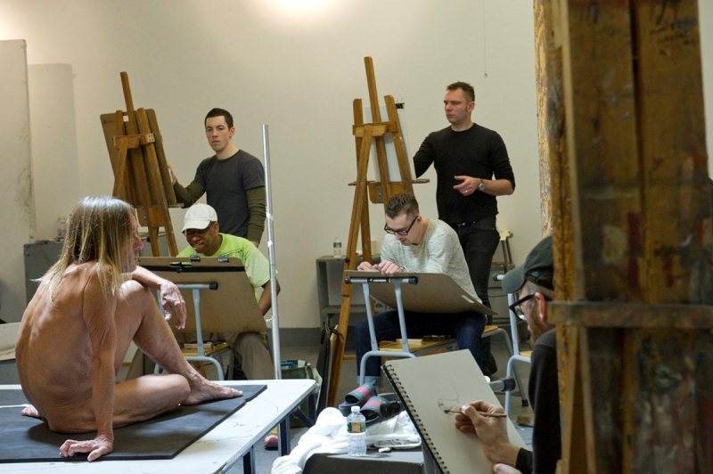 Iggy Pop Life Class by Jeremy Deller (Courtesy of Brooklyn Museum)