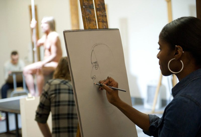 ggy Pop Life Class by Jeremy Deller. Organized by the Brooklyn Museum, February 21, 2016. (Elena Olivo/Brooklyn Museum)