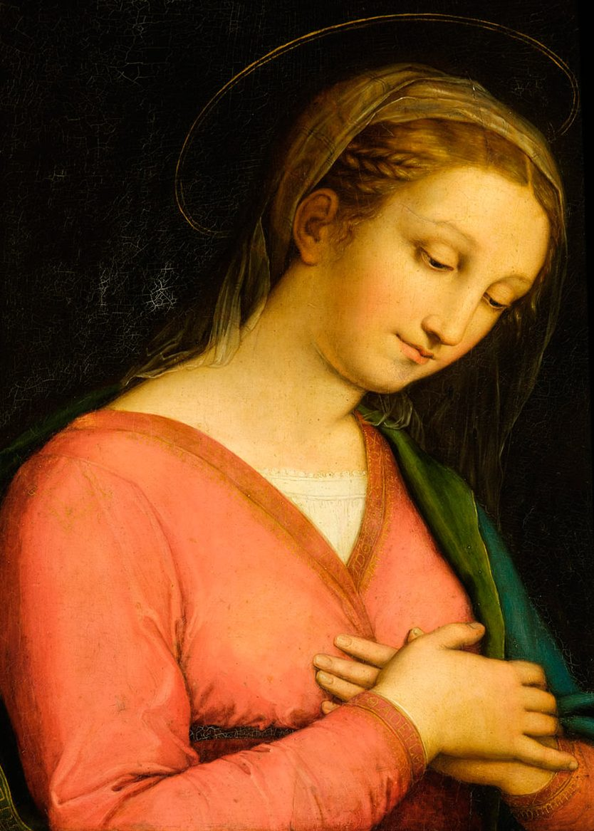 Innocenzo da Imola 1485–1548 The Virgin oil on panel (National Trust for Scotland)