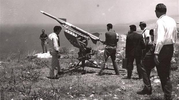 Preparing to launch a rocket, c. 1960s (Manoug Manougian)