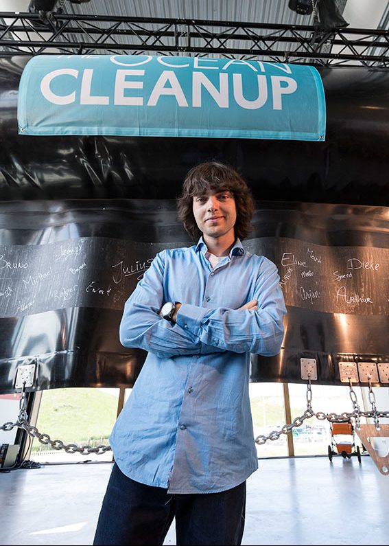 THE HAGUE, NETHERLANDS - JUNE 22: Boyan Slat poses during the unveiling of the Ocean Clean Up North Sea Prototype to test advanced technologies to rid the oceans of plastic on June 22, 2016 in The Hague, Netherlands. The Ocean Cleanup's floating barrier will be tested for extreme weather at sea, to prepare for its eventual deployment in the Great Pacific Garbage Patch.  (Photo by Michel Porro/Getty Images)
