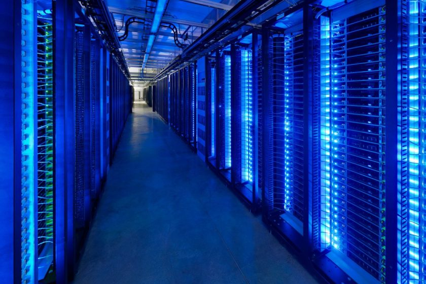 Seeking to transform the energy efficiency of global data centers, in April 2011 Facebook launched the Open Compute Project, an initiative to share the custom-engineered technology in its first dedicated data center in Prineville, Oregon. (Facebook)