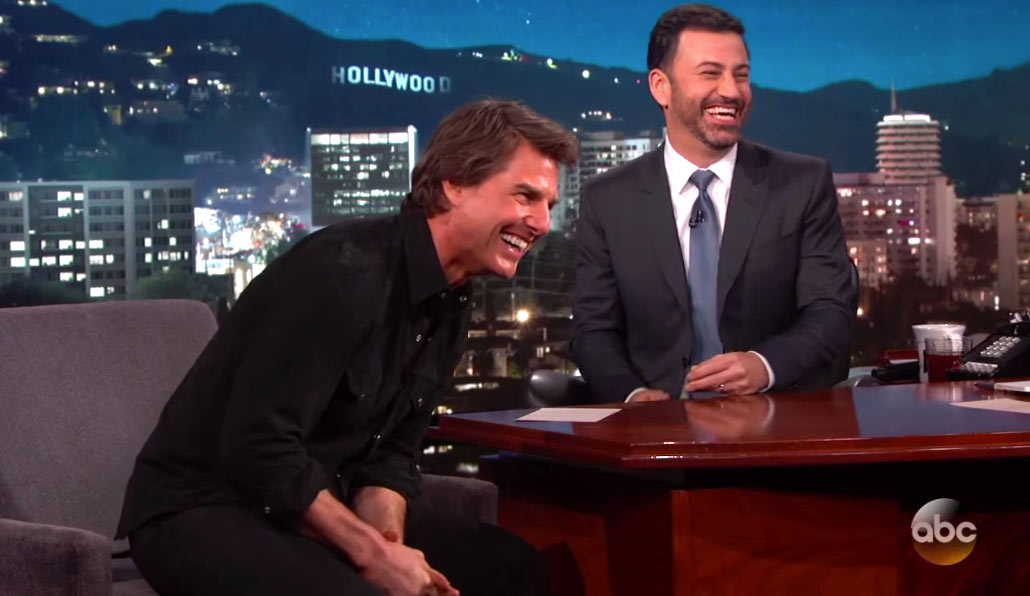Tom Cruise Talks About Training for 'Top Gun' and Possible Sequel on 'Jimmy Kimmel Live'