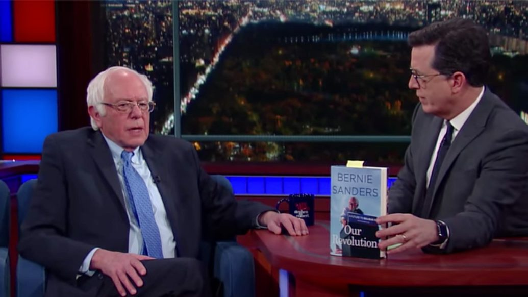 Senator Bernie Sanders Provides 'Autopsy' for Democratic Party on 'Colbert'