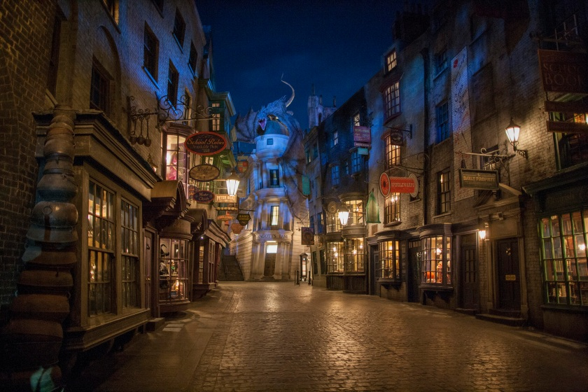 Located in the Universal Studios Florida theme park, The Wizarding World of Harry Potter - Diagon Alley will feature shops, dining experiences and the next generation thrill ride, Harry Potter and the Escape from Gringotts. The new immersive area will double the size of the sweeping land already found at Universals Islands of Adventure. (Ken Kinzie/Universal Orlando Resort via Getty Images)