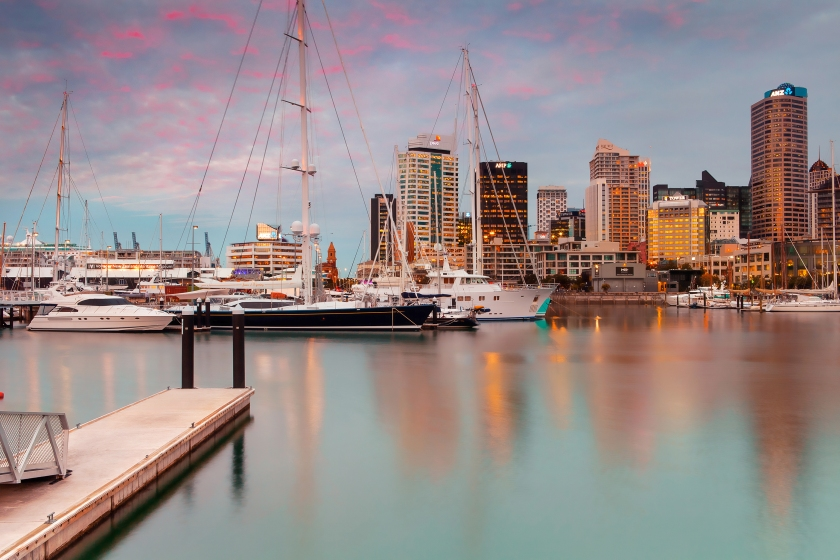View of Auckland's port in New Zealand (Getty Images)
