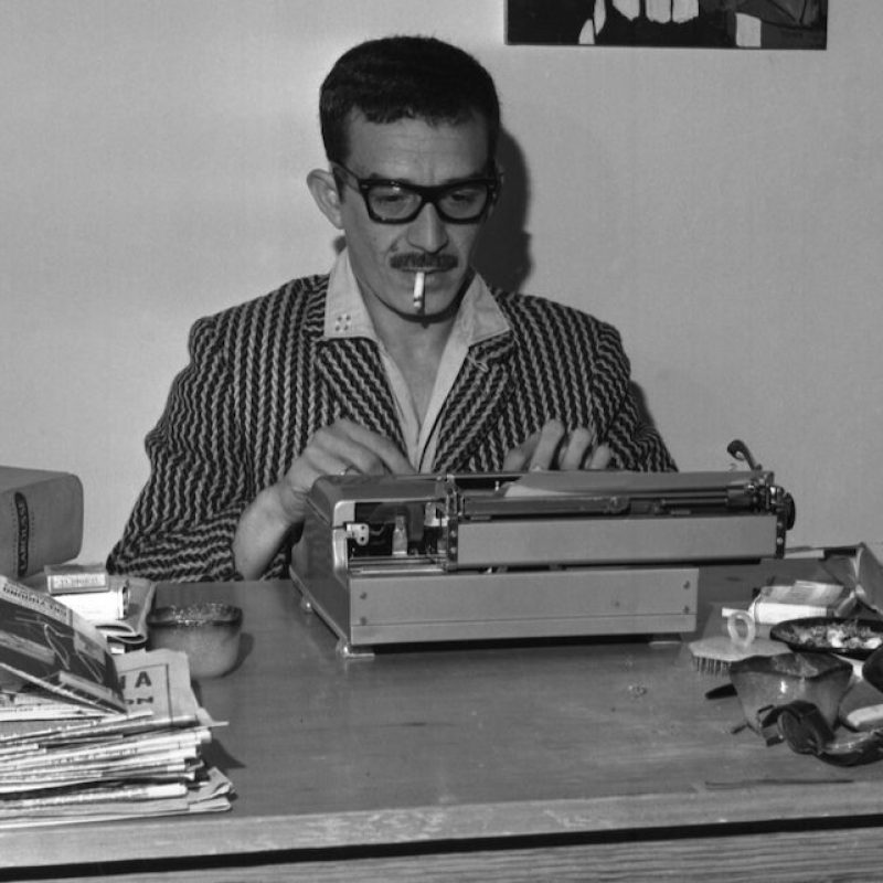 The Mexico City home of Gabriel Garcia Marquez, winner of novel contest.