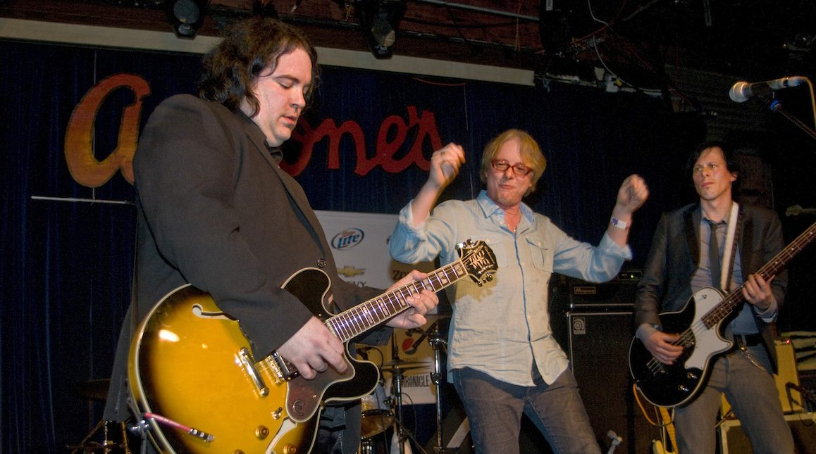 AUSTIN, TX - MARCH 20: Jody Stephens of Big Star on drums with Mike Mills of R.E.M (C) and Ken Stringfellow of the Posies performing at Antone's at the Alex Chilton/Big Star tribute during day four of SXSW Music Festival on March 20, 2010 in Austin, Texas. (Photo by Ebet Roberts/Redferns)