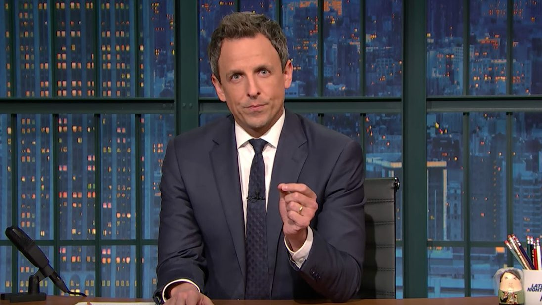 Seth Meyers Shares Remarks on President-Elect Donald Trump