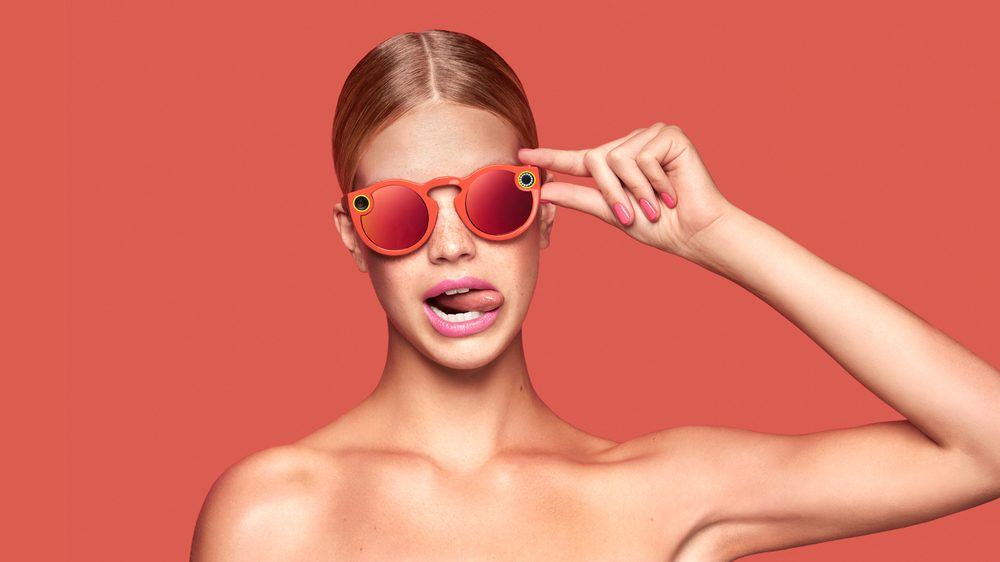 Snap's glasses will come in one size, and be available in three colors: black, teal, and coral. (Snap)