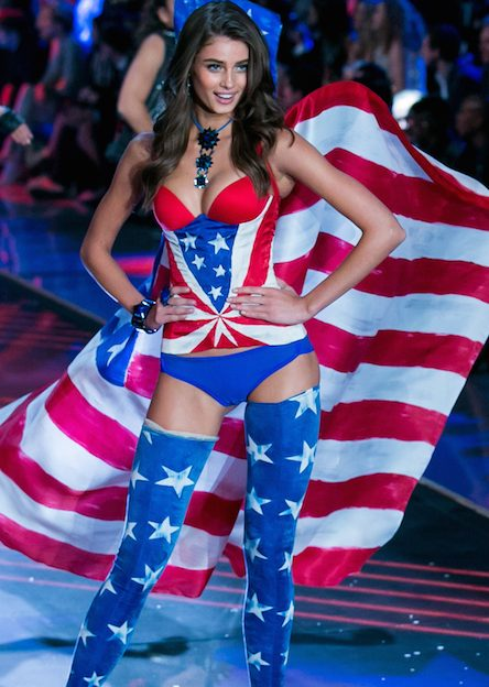 CNBC EVENTS -- 2015 Victoria's Secret Fashion Show -- Pictured: Model   Taylor Hill walks the runway during the 2015 Victoria's Secret Fashion Show in New York City on November 10, 2015.  -- (Photo by: Adam Jeffery/CNBC)