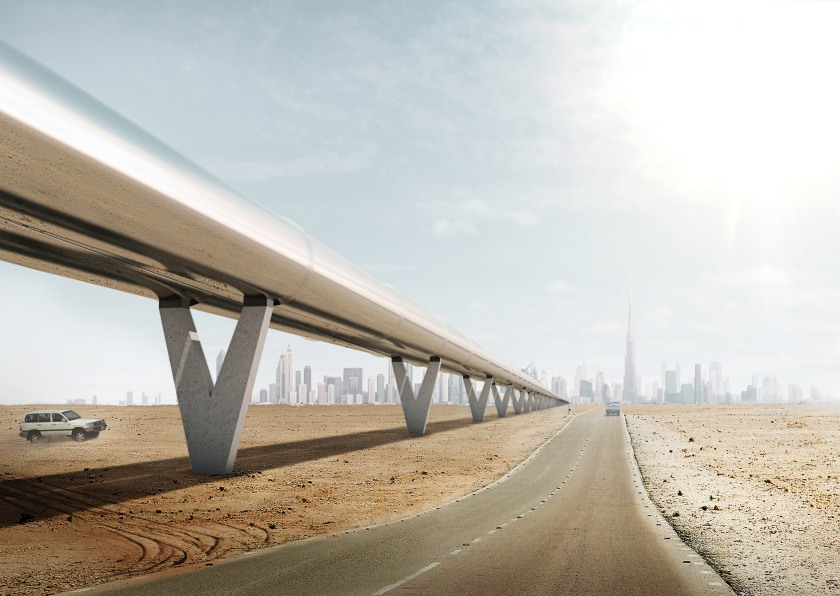 Hyperloop One's plans would connect Dubai with the UAE capital Abu Dhabi in 12 minutes, Riyadh in 48 minutes, Doha in 23 minutes, Muscat in 27 minutes (Bjarke Ingels Group/ Hyperloop One)
