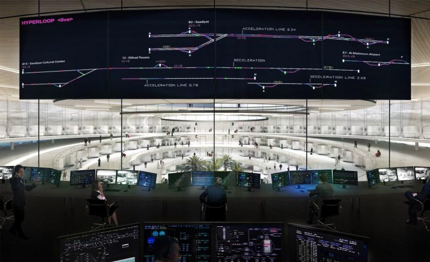 Burj Khalifa Hyperportal Control Center, Dubai (Bjarke Ingels Group/ Hyperloop One)