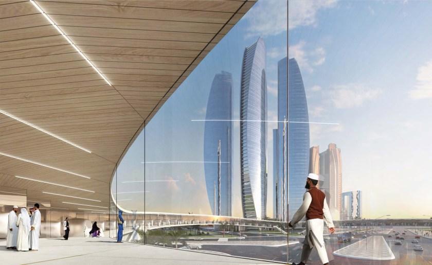Etihad Towers Hyperportal, Interior View, Abu Dhabi (Bjarke Ingels Group/ Hyperloop One)