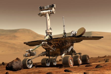 Mars Rovers, Spirit and Opportunity, land on opposite sides of Mars and begin exploring the planet (NASA)
