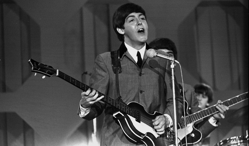 THE ED SULLIVAN February, 16, 1964. Deauville Hotel, Miami Beach, Florida. The Beatles' second appearance, Paul McCartney. (CBS via Getty Images)
