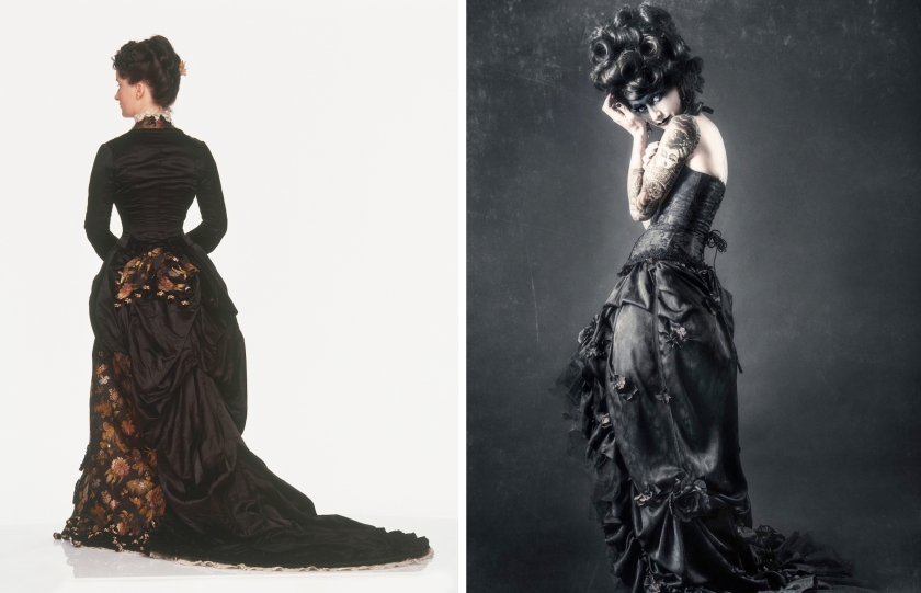 Victorian example, at left, and goth example (Getty Images)