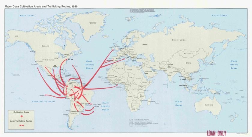 Worldwide Coca Cultivation, Circa 1990