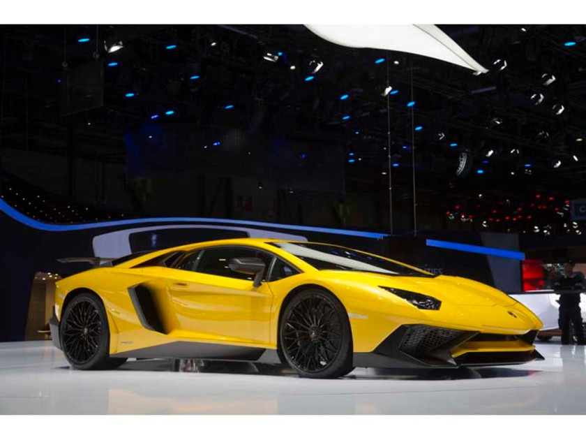 The Aventador LP 750-4 Superveloce. Another car you can drive at the Lamborghini driving school.