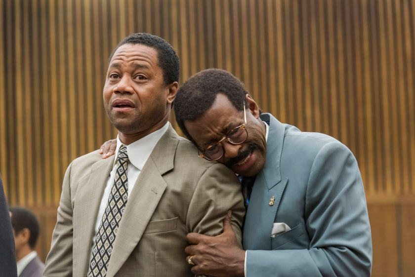 Cuba Gooding, Jr. as O.J. Simpson, Courtney B. Vance as Johnnie Cochran in 'The Peope v. O.J. Simpson: American Crime Story'. (Prashant Gupta/FX)