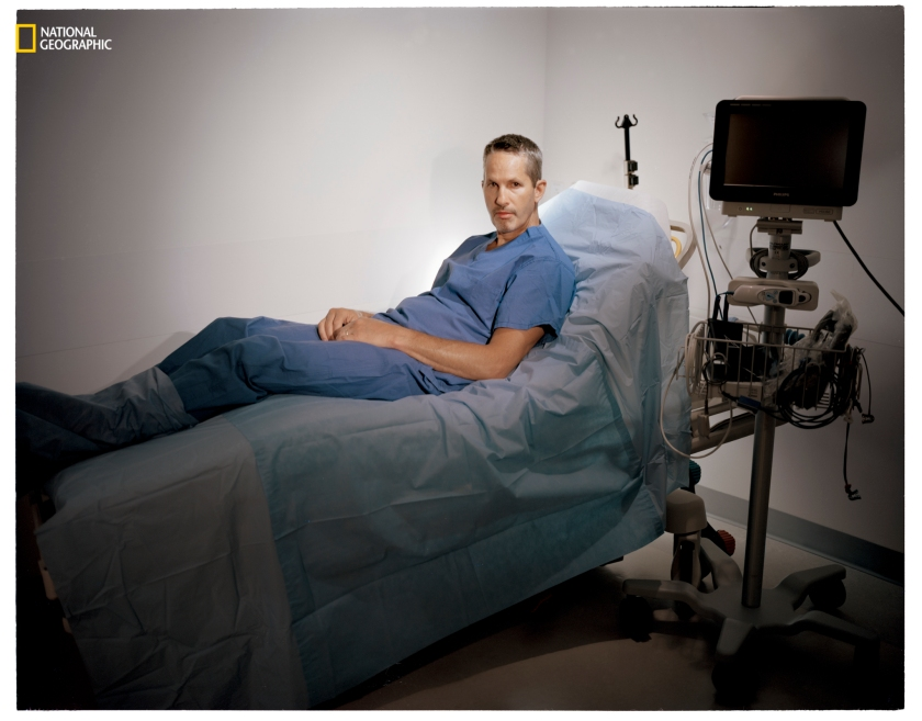 """Mike Pauletich, during a trial at Stanford University, believed he had surgery to alleviate Parkinson's symptoms. In fact he'd receiveda sham surgery—but he did feel significant relief. """"Whether it was placebo or some effect of a drug,"""" he says, """"it doesn't matter to me."""" (Erika Larsen/National Geographic)"""