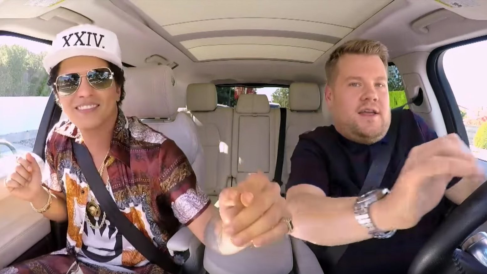 Bruno Mars Joins Corden for 'Carpool Karaoke'