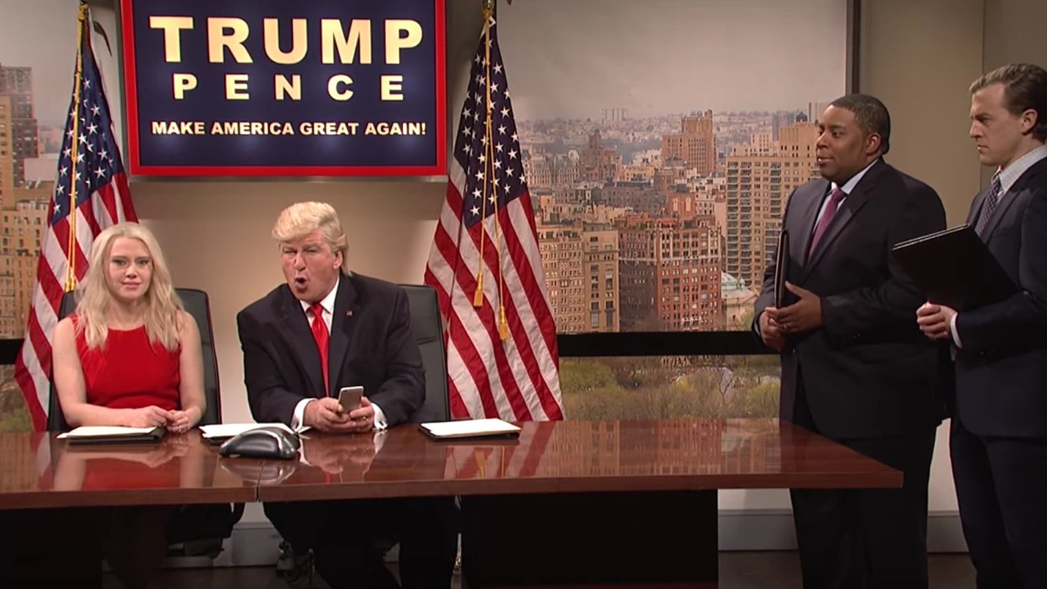 President-Elect Trump Interrupts Security Briefing to Retweet People in 'SNL' Cold Open