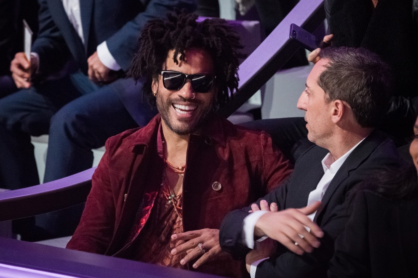 Lenny Kravitz and Gad Elmaleh attend the Victoria's Secret Fashion Show on November 30, 2016 in Paris, France. (Francois G. Durand/WireImage)