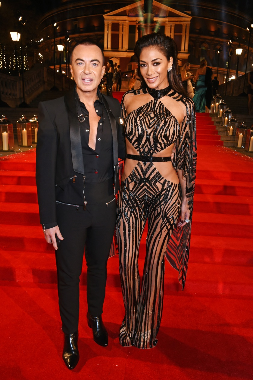 Julien Macdonald (L) and Nicole Scherzinger attend The Fashion Awards 2016 at Royal Albert Hall on December 5, 2016 in London, United Kingdom. (Photo by David M. Benett/Dave Benett/Getty Images)