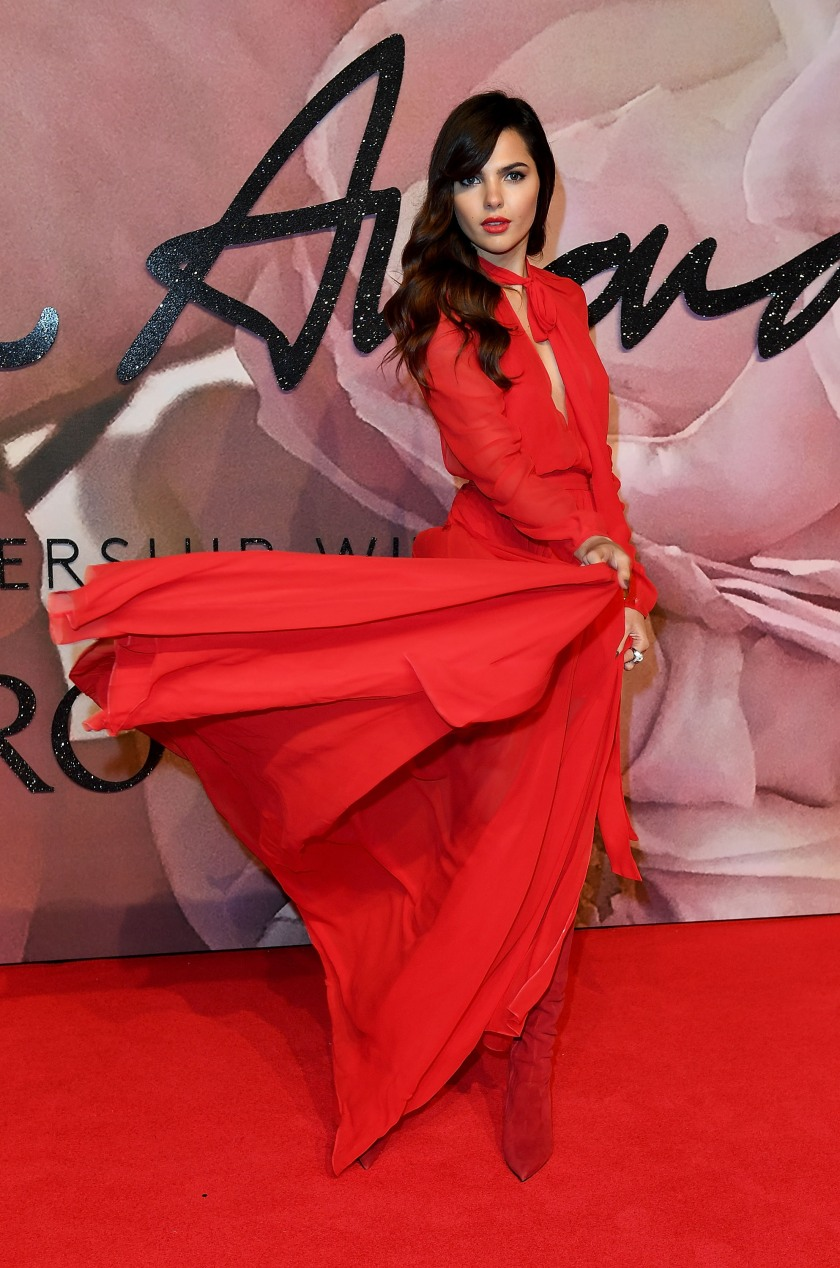 Doina Ciobanu attends The Fashion Awards 2016 on December 5, 2016 in London, United Kingdom. (Photo by Mike Marsland/Mike Marsland/WireImage)