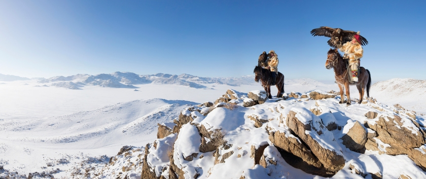 Traditional Mongolian Eagle Hunters (Getty Images)