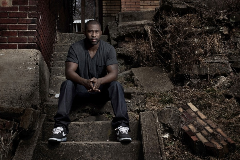 New York Jets Darrelle Revis poses for a portrait in the backyard of the house he grew up in on March 10, 2010 in Aliquippa, Pennsylvania. (Chris McGrath/Getty Images)