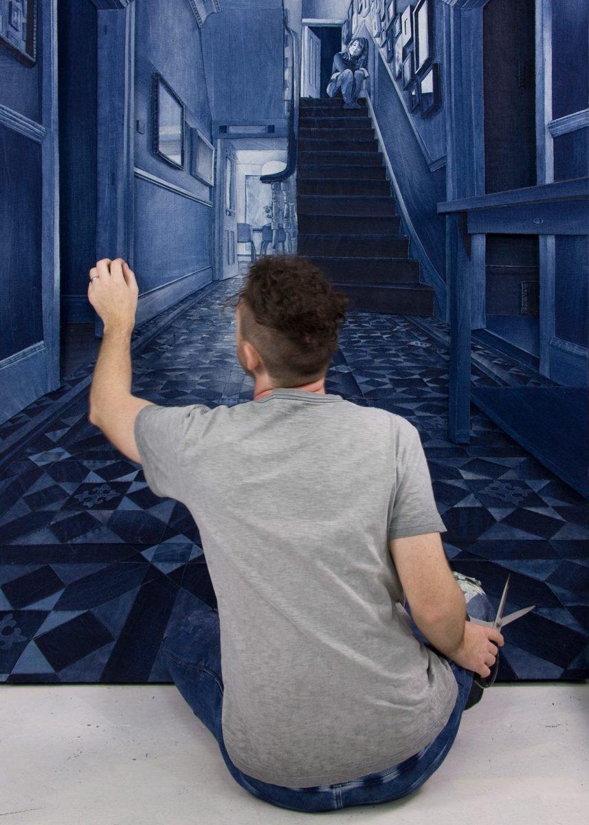 84cedca43e9336 Artist Uses Denim Jeans to Create Hyper-Realistic Art - InsideHook