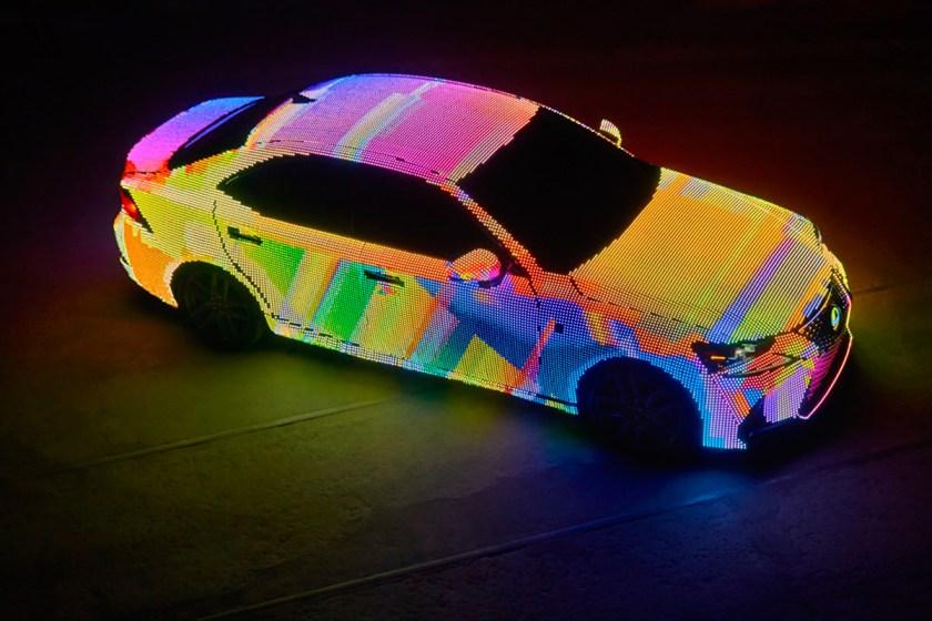 Lexus LIT IS Model Covered in LED Lights