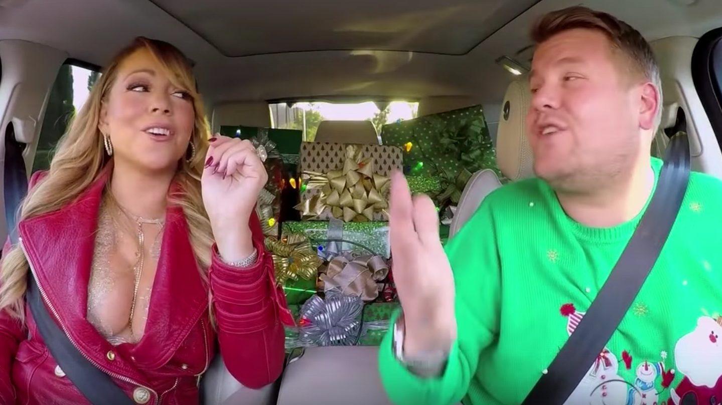 Carpool Karaoke: Mariah Carey, Adele Do Live 'All I Want for Christmas' Mashup