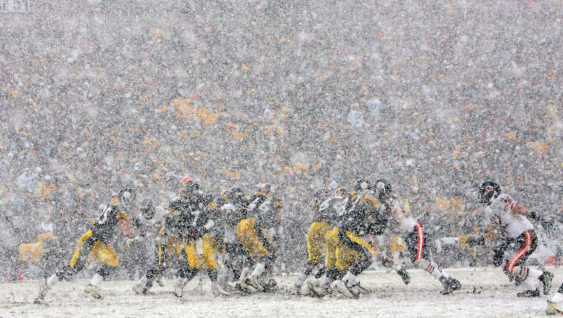 of the Chicago Bears of the Pittsburgh Steelers at Heinz Field on December 11, 2005 in Pittsburgh, Pennsylvania.