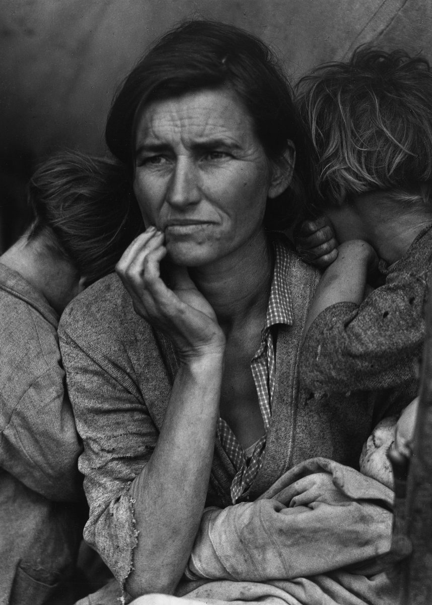 'Migrant Mother,' Nipomo, California. 1936.  (Dorothea Lange/The Museum of Modern Art)