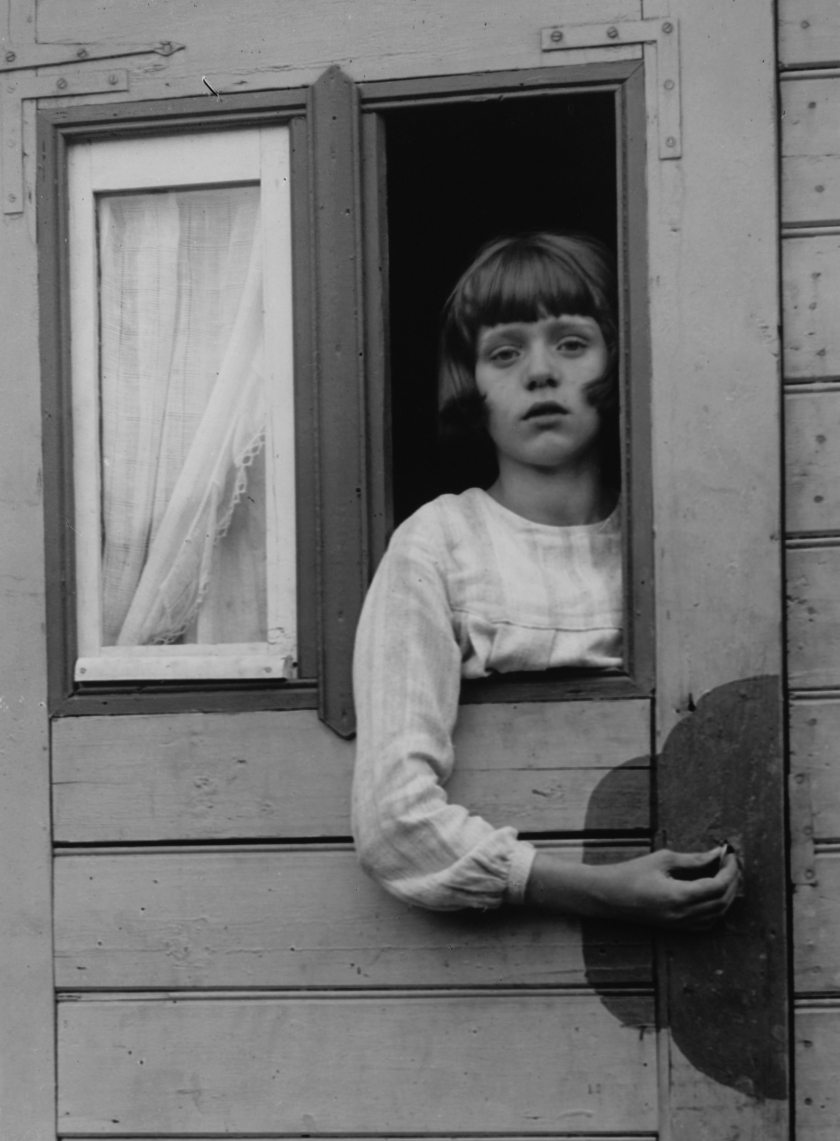 'Young Girl in Circus Caravan,' 1926. (August Sander/The Museum of Modern Art)