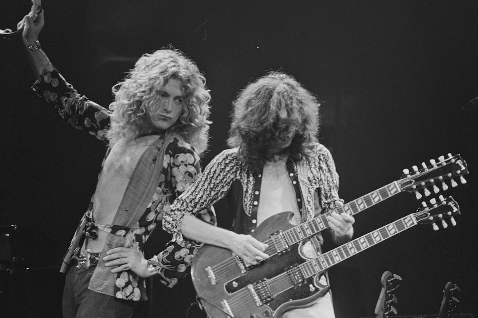 Robert Plant and Jimmy Page of Led Zeppelin (Jay Dickman/Corbis via Getty)