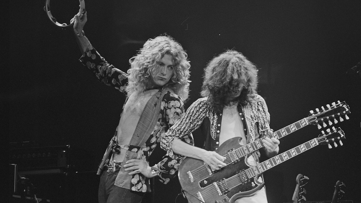 Robert Plant and Jimmy Page of Led Zeppelin (Photo by �� Jay Dickman/CORBIS/Corbis via Getty Images)