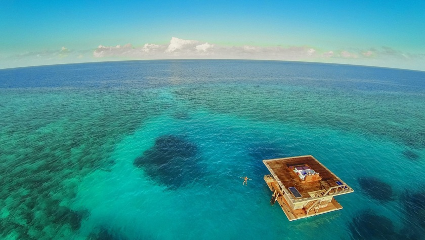 The Underwater Room in Zanzibar